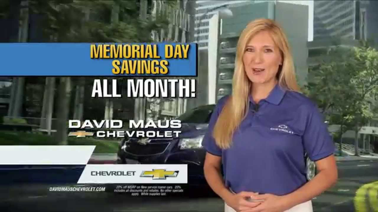 David Maus Chevy >> Memorial Day Savings All Month At David Maus Chevrolet