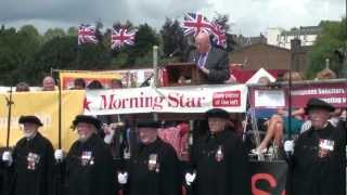 Fishburn Brass Band play Gresford, Durham Miners Gala....in HD