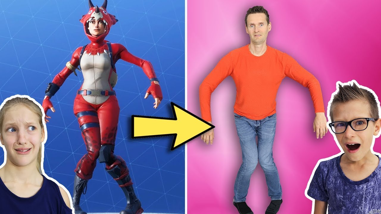 Fortnite Dances in Real Life w/ our Dad!!!