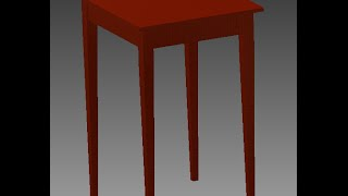 Designing A Nightstand On Inventor