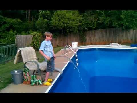 How To Fill Up A Swimming Pool Youtube