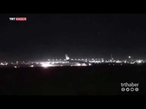 Türk pilot, arızalanan yolcu uçağını burnu üzerine indirdi