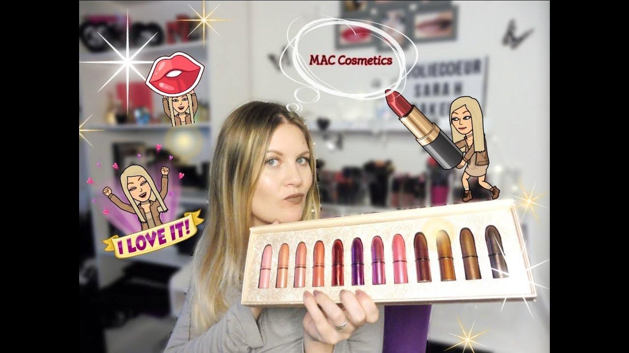 Coffret Rouge à Lèvre Mac Cosmétics Idées Cadeaux Swatches