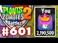 BATTLEZ! High Score! Over 2 Million! - Plants vs. Zombies 2 - Gameplay Walkthrough Part 601
