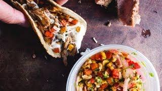Leftover Steak & Corn Salad Tacos