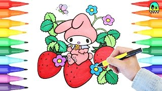 My Melody Sanrio Coloring Pages I Fun Coloring Videos for Kids