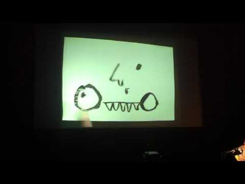 Zach Lieberman performing Drawn at EyeO 2012