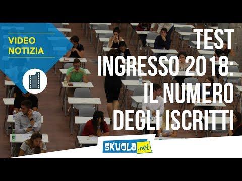 Test ingresso 2018: il numero degli iscritti