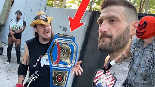 NEW GTS CHAMPIONSHIP BELT REVEALED! SUPERHEROES OPEN CHALLENGE COULD COST GRIM THE SHOW!
