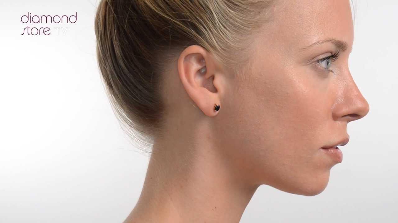 17b8e6192 FEG24 U - Sapphire 7mm x 5mm 18K Yellow Gold Earrings - YouTube