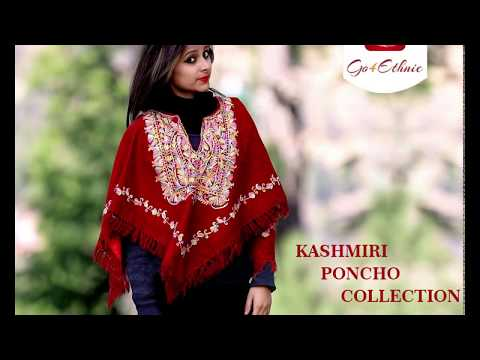Go4Ethnic Kashmiri Dresses Collection 2018-2019 | Kashmiri Ponchos | Winter Collection