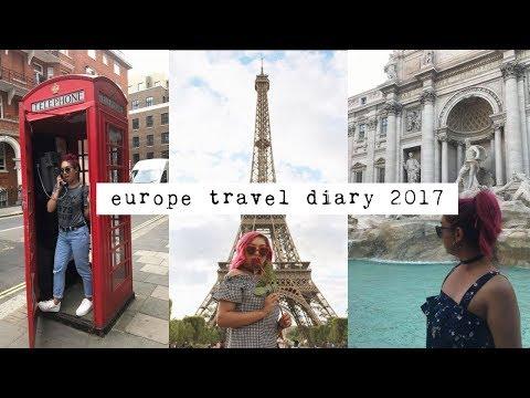 EUROPE TRAVEL DIARY ♡ London, Paris + Rome!