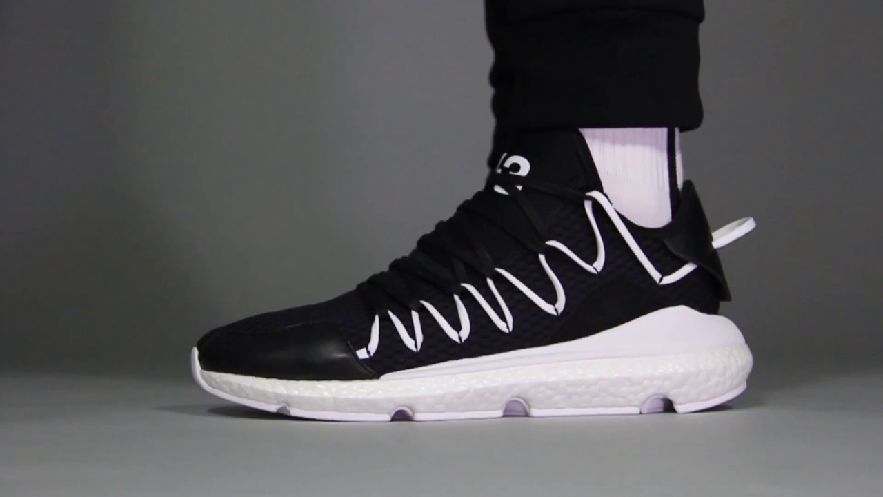 29954938f Y3 Kusari Sneakers - Black White - YouTube