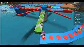 Ganhando e Tentando Passar os obstáculos (ROBLOX Wipeout - BETA)