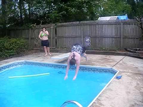 Beth and Britt swimming wardrobe malfunction!