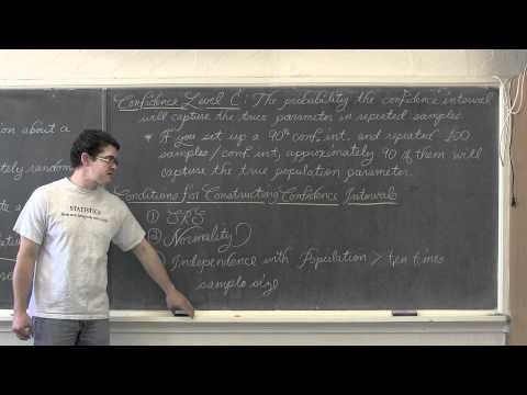 Intro to Confidence Intervals & 1 Sample Mean z Interval
