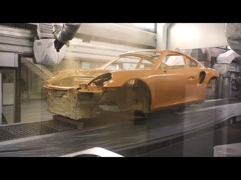 The production process of the 911 Turbo S Exclusive Series – Painting body.