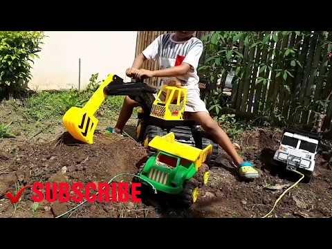 Main Excavator Di Tanah #7 || Main Truk Pasir Anak || Video For Kids || Dunia Anak