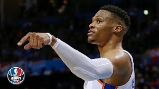 Russell Westbrook's triple-double, Paul George's 3 fuel Thunder to win vs. Jazz   NBA Highlights