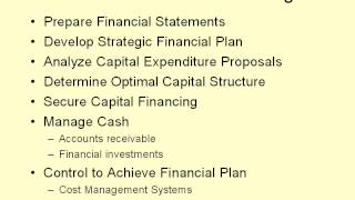 video 1 Finance and the Financial Manager
