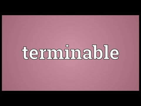 Header of terminable
