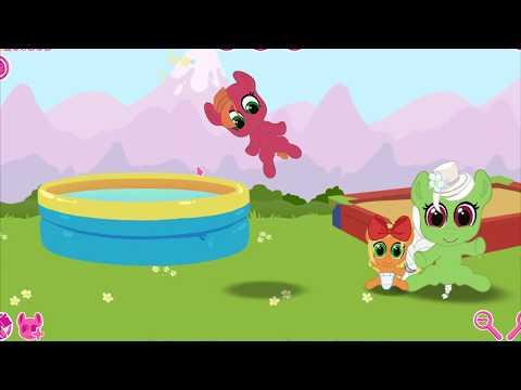 Карманная пони.Модница Эпплджек меняет прическу.Май литл пони.Дружба это чудо.