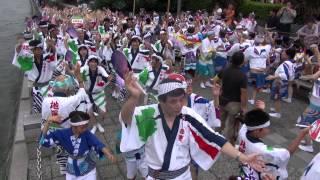 2012  徳島阿波踊り 地医輝連 出場前練習風景その2 藍場浜演舞場前HD