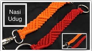 Cara membuat handle tas tali kur motif gelombang by nasiudug