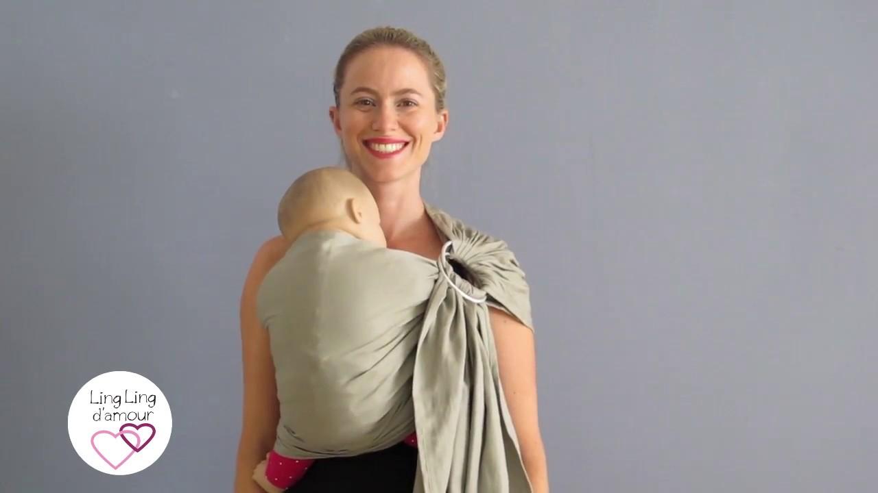 Le sling   pour porter bébé de la naissance jusqu à 3 ans   Ling Ling  d amour 05eff3f6790