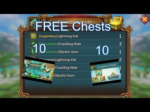 Lords Mobile - How To Get Free Chests (I Got The Legendary Vial?)