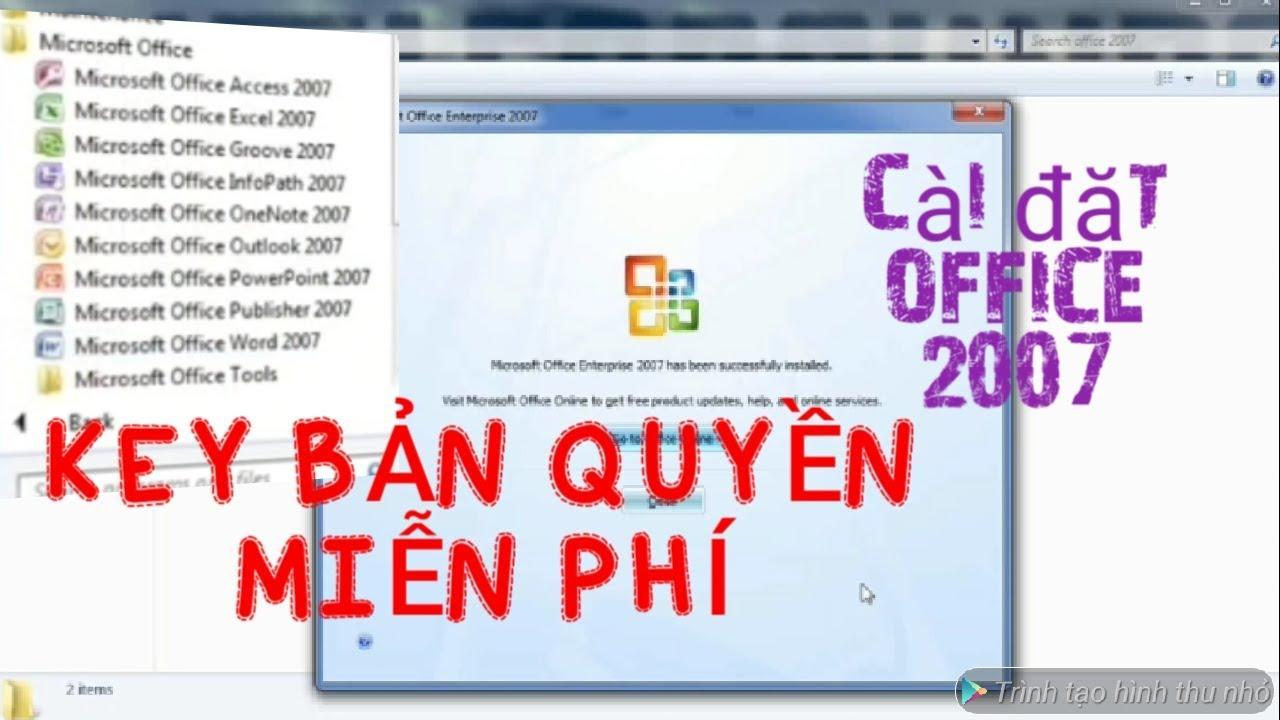 Hướng dẫn cài đặt bộ Office 2007