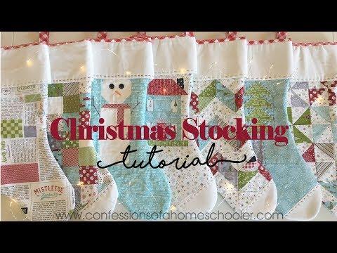Easy Christmas Stocking Tutorial