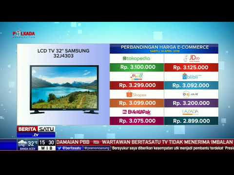 "Perbandingan Harga E-Commerce: LCD TV 32"" Samsung 32J4303"