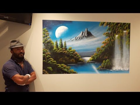 Spray paint art – Amazing wall painting – made by street artist