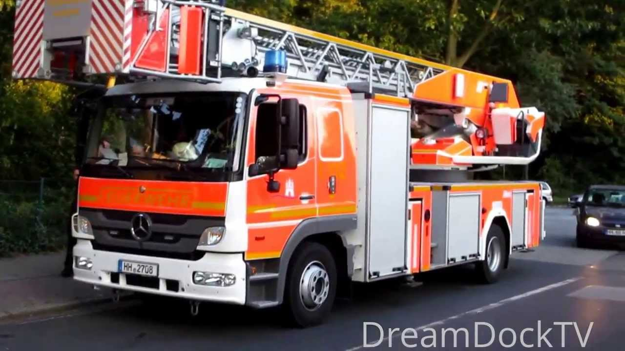 feuerwehr hamburg neue drehleiter mercedes atego bf sasel f24 dlk youtube. Black Bedroom Furniture Sets. Home Design Ideas