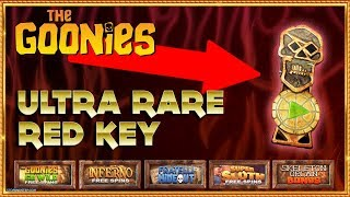 💀 THE GOONIES SLOT CHALLENGE with ULTRA RARE Red Key!! 🔑🗝️🔑