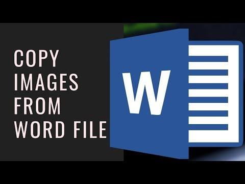 How To Copy Images From Word Files To Computer