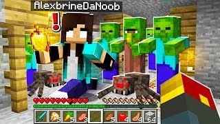 noob Girl finds the RAREST item in Minecraft...