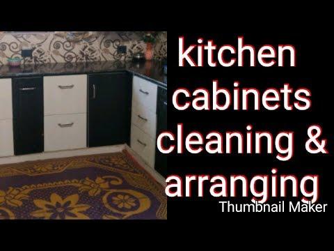 How to clean kitchen cabinets  | how to arrange kitchen cabinets  |dehradun vlogger