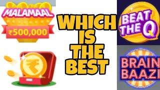 Which Is The Best Live Trivia Quiz Show - Hypstar, BrainBaazi or What??