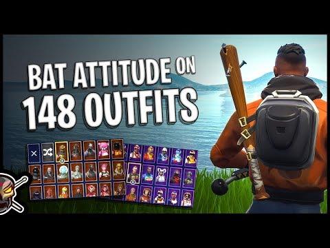 Bat Attitude Back Bling On 148 Outfits | Maverick - Fortnite Cosmetics