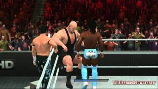 Air Boom vs Big Show and Kane - Tag Team Match - WWE Smackdown vs. Raw 2011