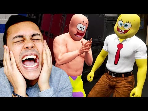 I made spongebob and patrick fight in the WWE (WWE 2K18) thumbnail