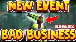 *NEW* AREA 51 Event in Bad Business Roblox! NEW SKINS and RAYGUN!! (Roblox Bad Business Gameplay)