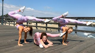 ACRO dance & CONTORTION with SOFIE DOSSI!! We attempt a trick we HAVE NEVER done before.