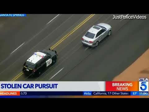Police Chase Stolen Audi in Los Angeles