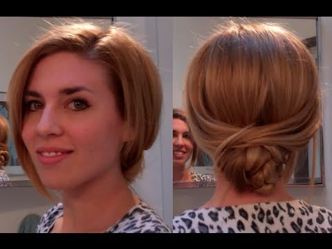 ... bun/ Low bun hair tutorial - easy hairstyles for long hair - YouTube