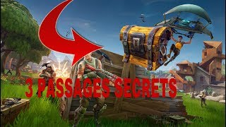 3 SECRET PASSAGES ON FORTNITE!