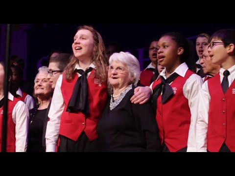 """One Day"" Young@Heart, Chicago Children's Choir & Hampshire Young People's Chorus"