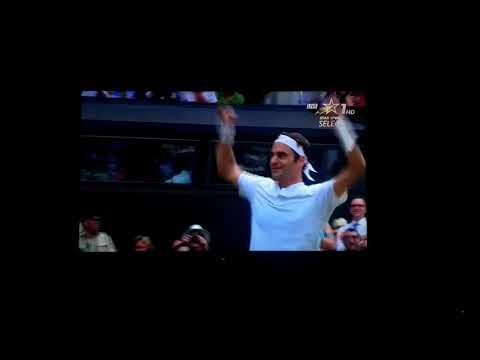 Roger Federer championship point.